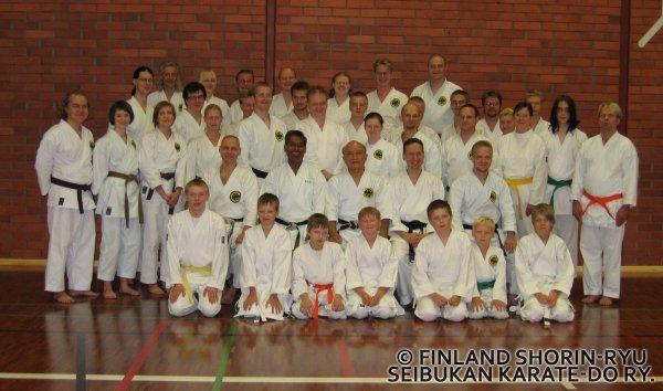 O-sensein, Shimabukuro Zempon, leirin ryhmäkuva Lahdesta 7.-8.9.2007